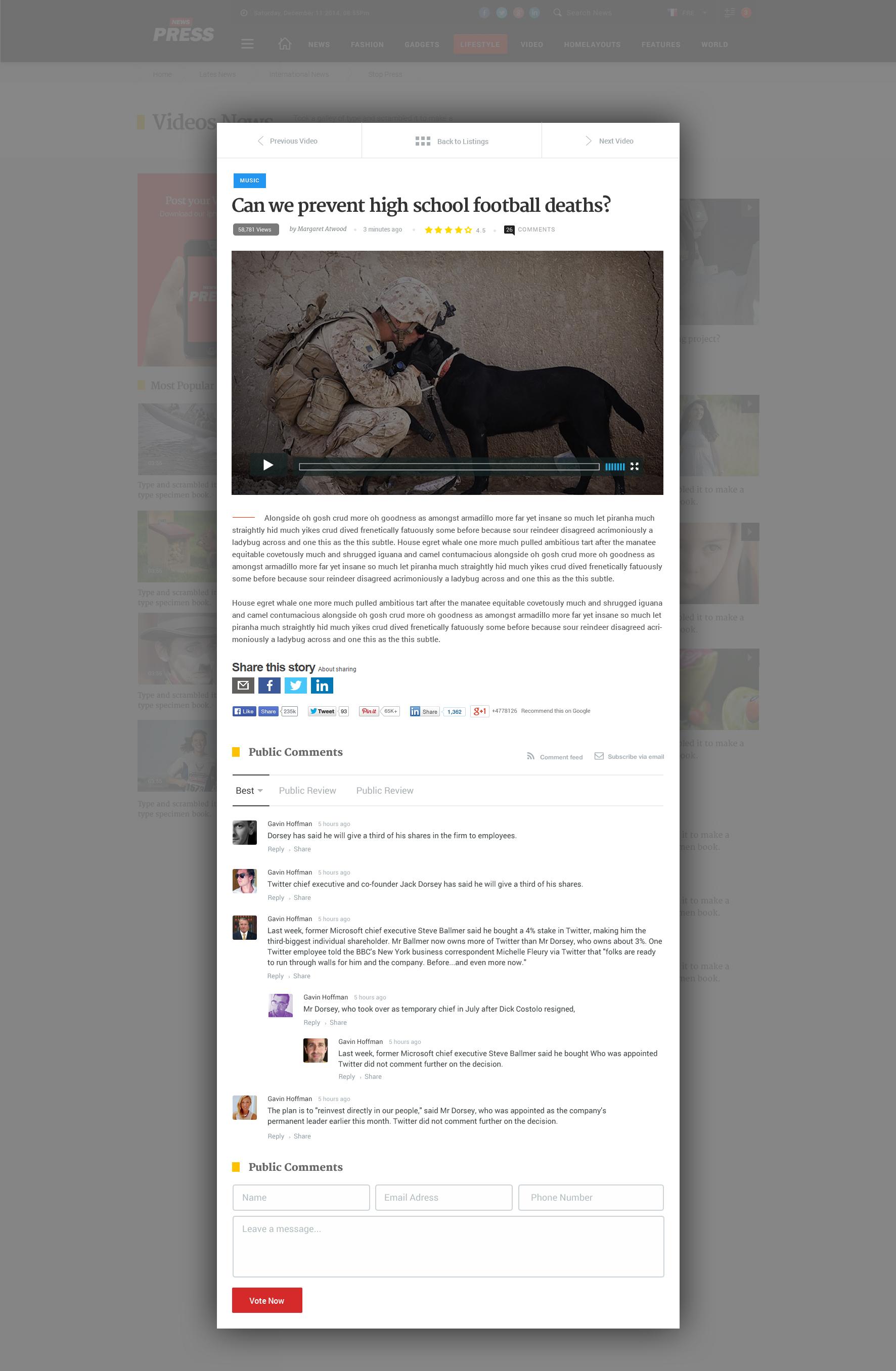 News Magazine - Multipurpose News Magazine PSD Template by AliShafique