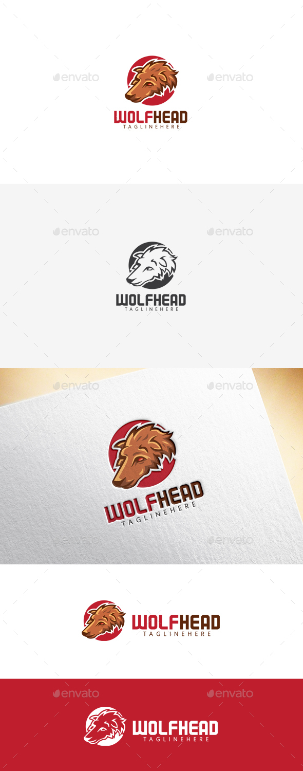 Wolf Head Logo - Animals Logo Templates