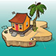 Caribbean House on Small Island Nulled