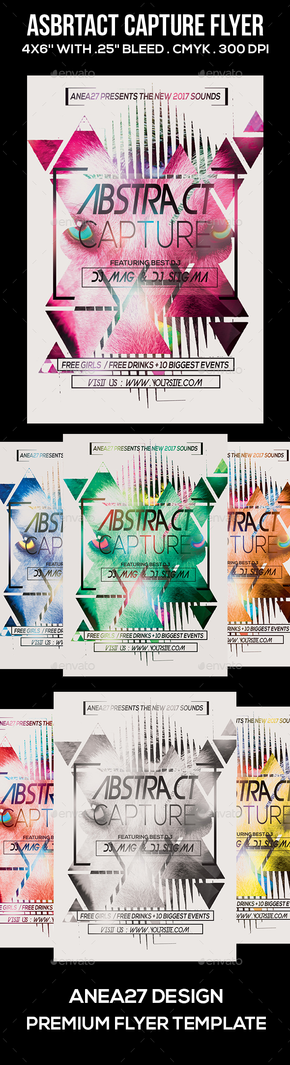 Abstract Capture Flyer - Clubs & Parties Events