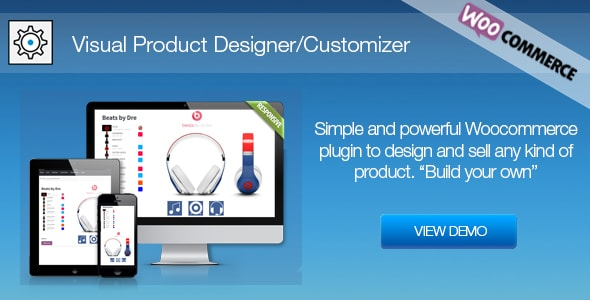 Visual Product Designer/Customizer for Woocommerce - Build Your Own - CodeCanyon Item for Sale