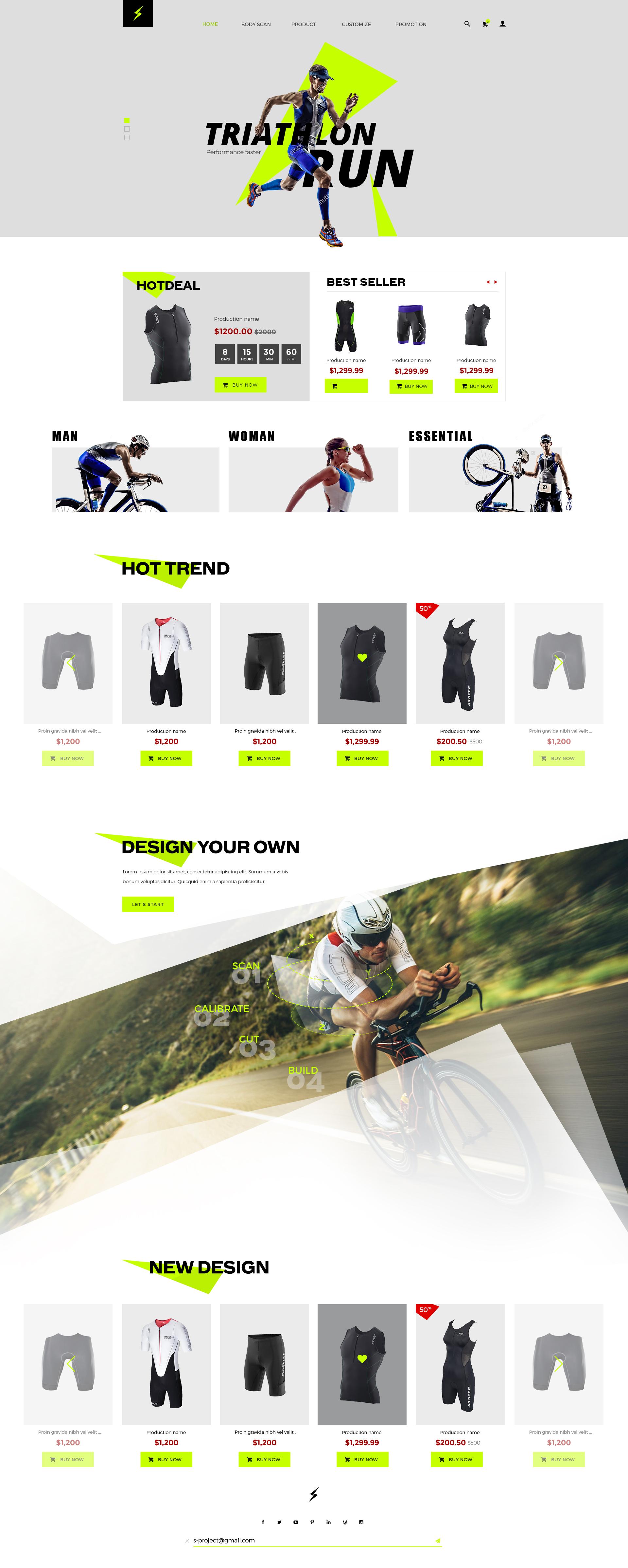 Sporty theme - responsive theme for biking, swimming and triathlon