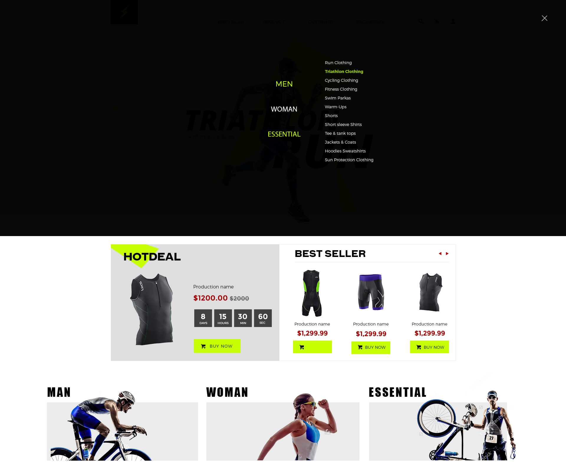 Sporty theme - responsive theme for biking, swimming and triathlon