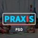 Praxis - Creative Agency and Portfolio PSD Template
