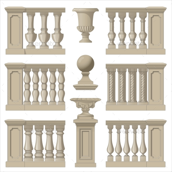 Decorative Railings - Man-made Objects Objects