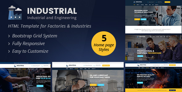 Industrial - Industrial And Engineering HTML Template - Business Corporate