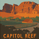 Capitol Reef Travel Poster or Flyer - GraphicRiver Item for Sale