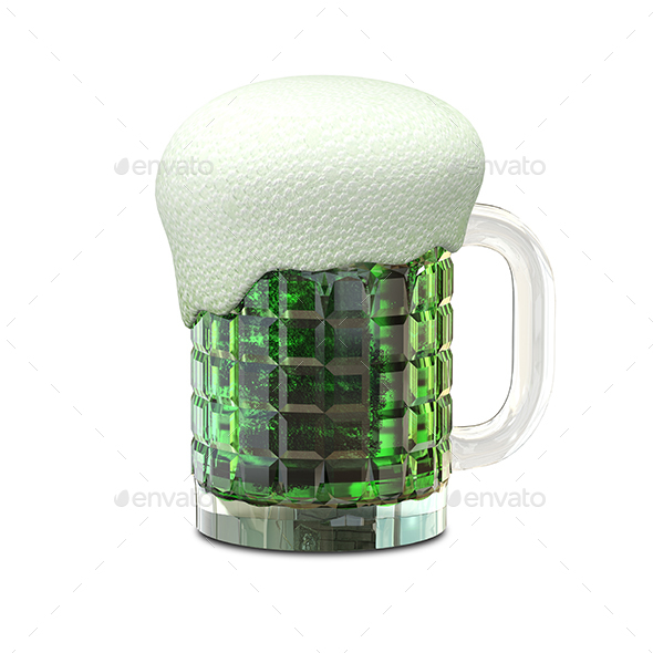 3D Illustration of a Mug with Beer - Objects 3D Renders