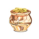 3D Illustration of Golden Pot Nulled