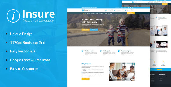 Insure – Insurance, Finance, & Business HTML Template