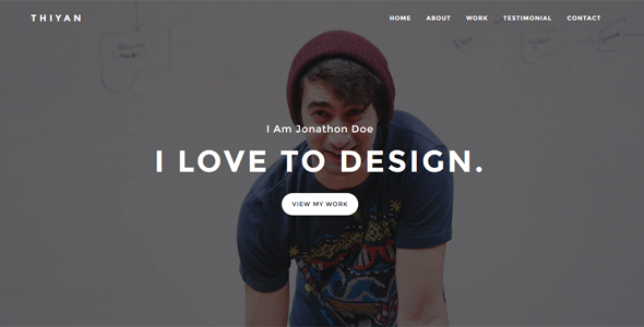 Thiyan - Personal Portfolio Template - Personal Site Templates