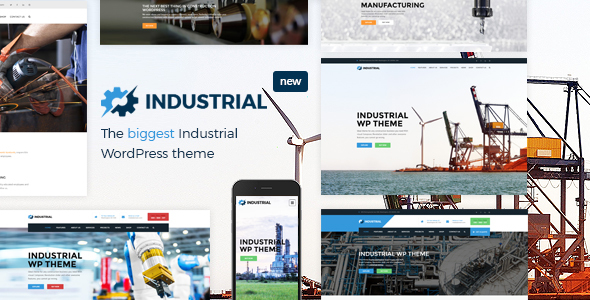 Industrial - Factory, Industry, Manufacturing WordPress Theme