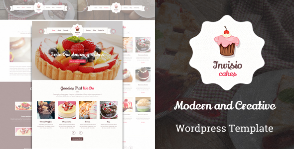 Invisio Cakes - Sweet Bakery WordPress Theme