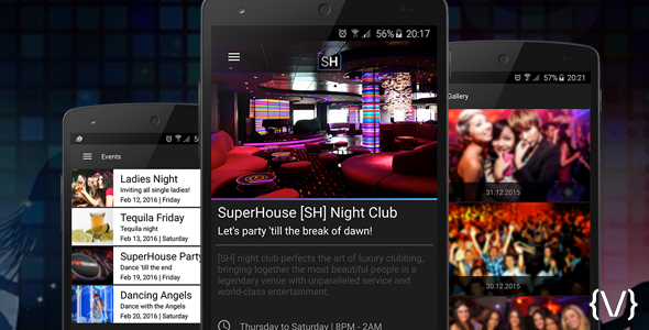 Night Club/Bar/Discotheque App for Android - CodeCanyon Item for Sale