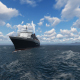 Cruise Ship and White Clouds - VideoHive Item for Sale