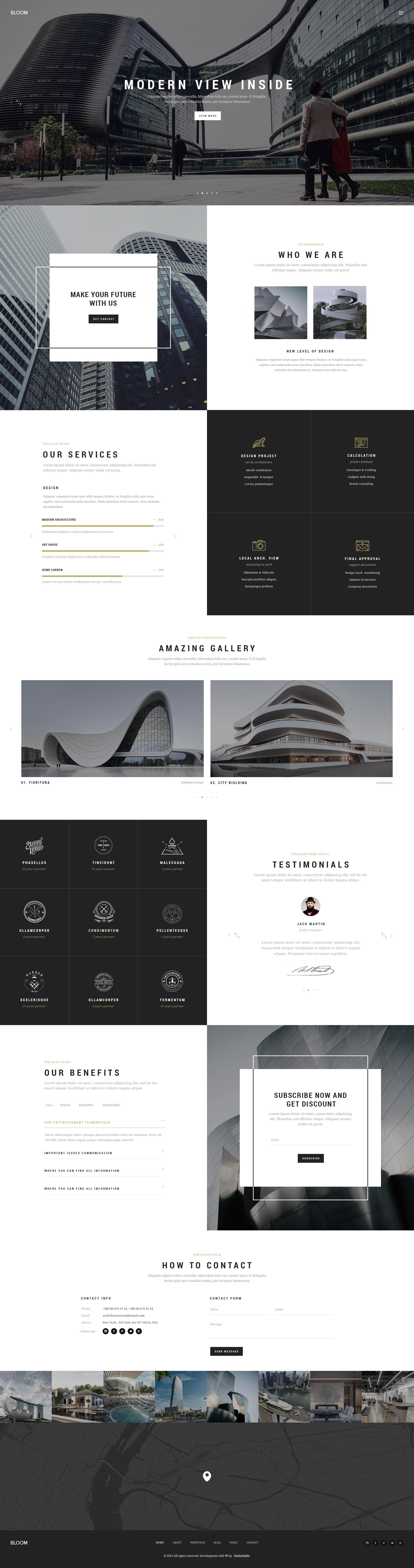 Bloom - Multi Purpose Design / Architecture / Interior / Portfolio ...