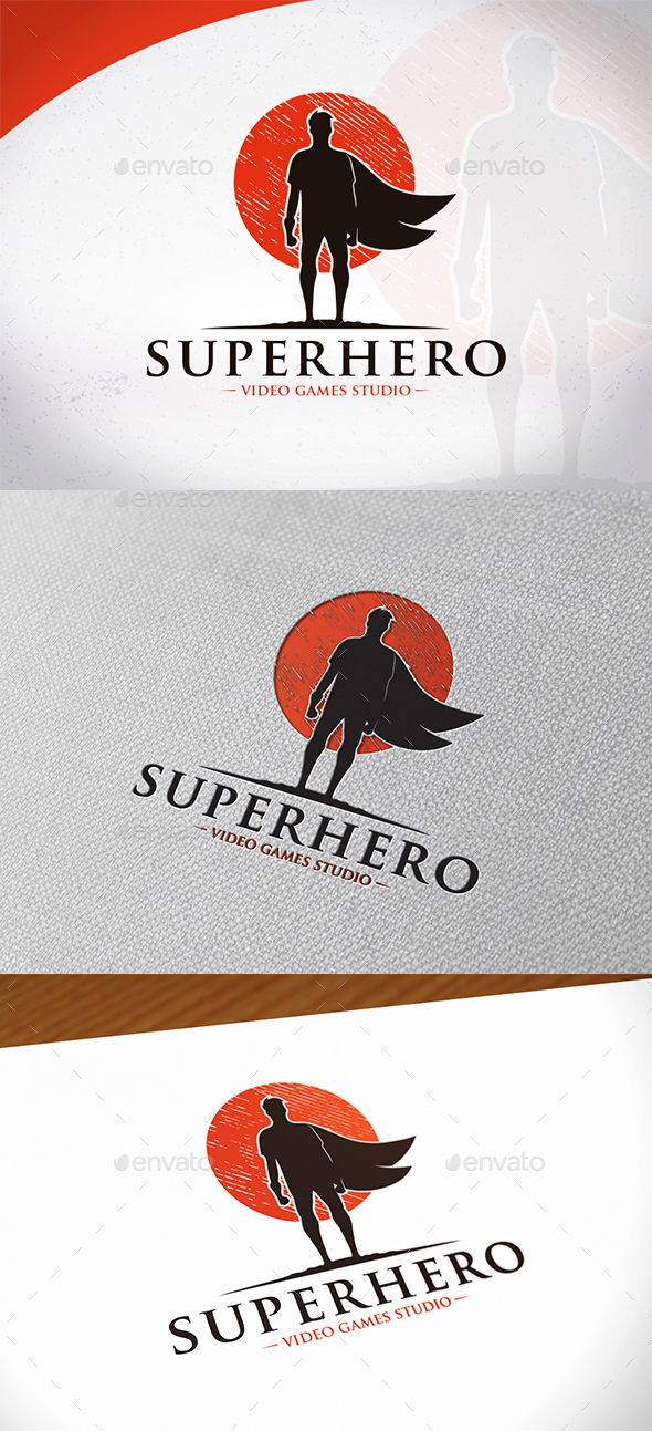 Super Hero Logo Template - Humans Logo Templates