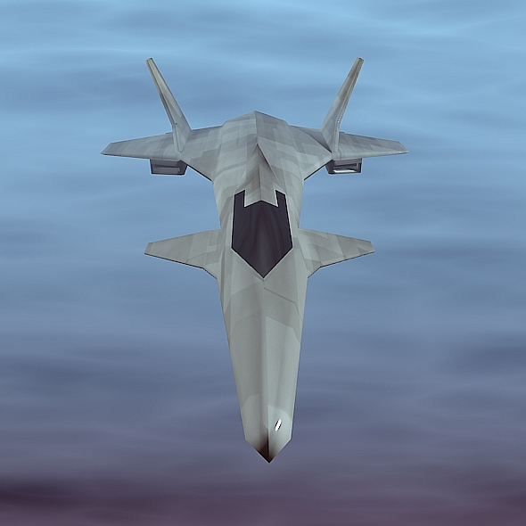 Stealth lowpoly aircraft - 3DOcean Item for Sale