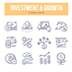 Investment & Growth Doodle Icons - GraphicRiver Item for Sale