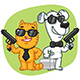 Cat and Dog Super Spy Keep Weapons Case