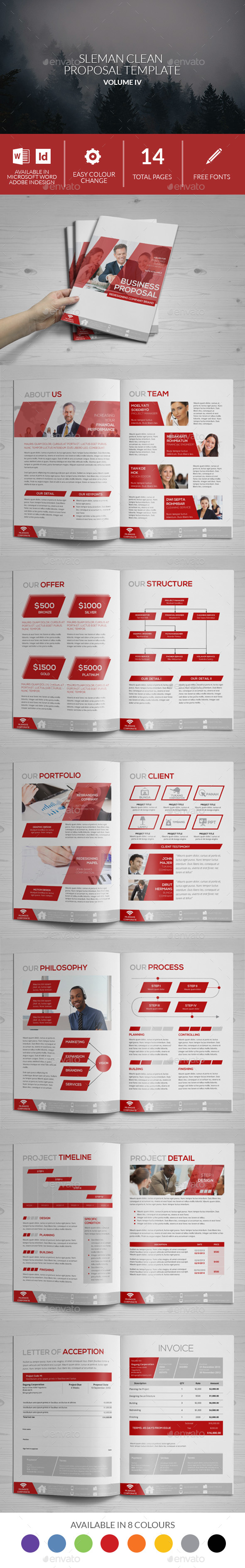 Sleman Clean Proposal Template Volume 4 - Proposals & Invoices Stationery