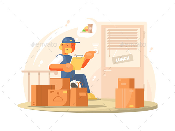 Uniformed Deliveryman Character - People Characters