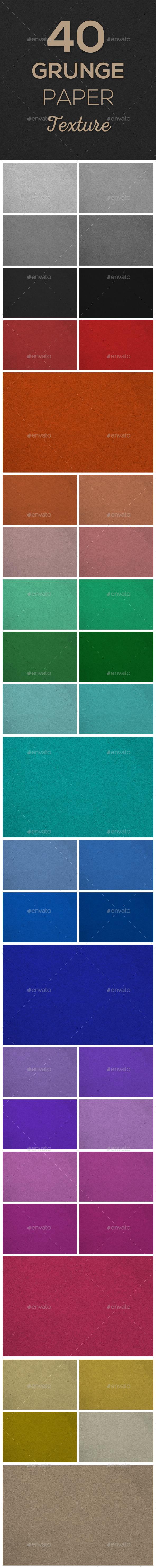40 Grunge Paper Texture - Paper Textures