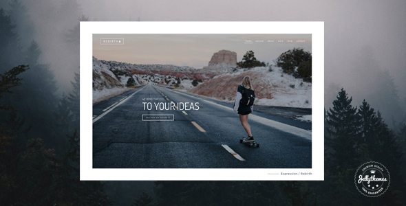 Rebirth – Freelance & Agency Portfolio WordPress Theme