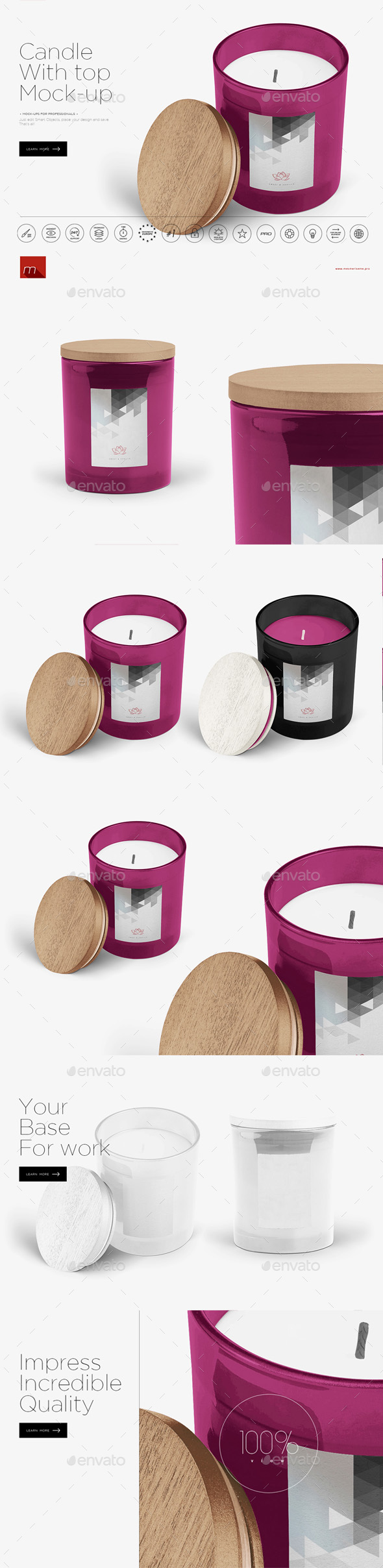 Candle in Glass Mock-up - Miscellaneous Product Mock-Ups