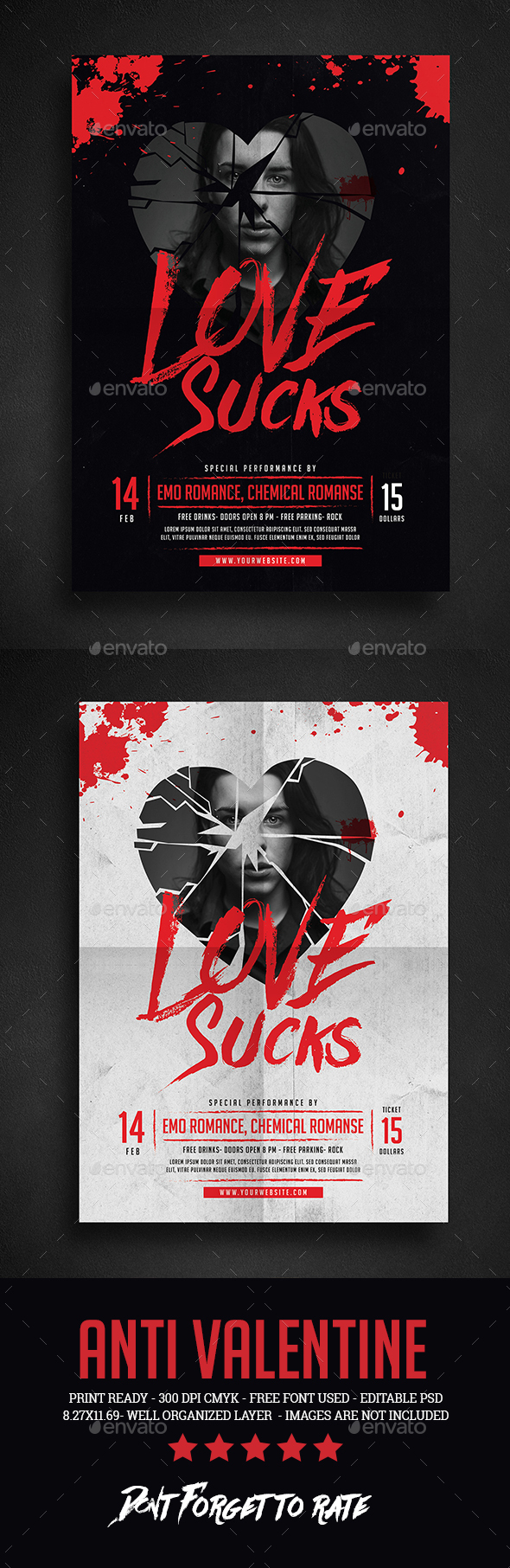 Anti Valentine Event Flyer - Events Flyers