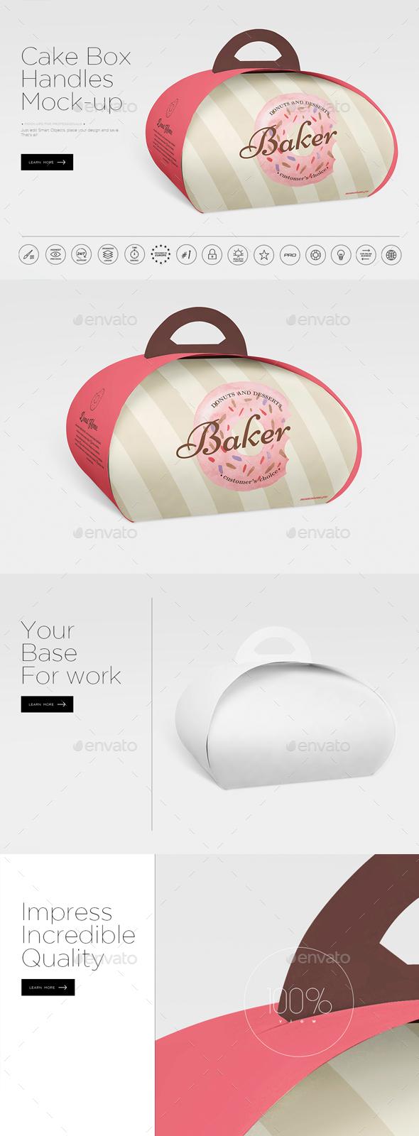 Handbag Cake Box Mock-up - Miscellaneous Product Mock-Ups