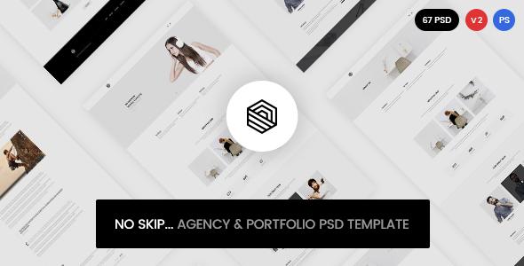 No Skip - Creative Agency & Portfolio PSD Template - Portfolio Creative