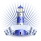 Nautical Emblem with Blue Lighthouse - GraphicRiver Item for Sale