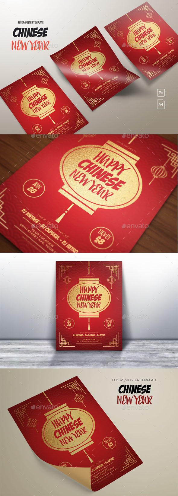 Chinese New Year Flyers/Poster - Holidays Events