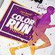 Color Run Festival Flyer Template