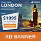 Wander - Travel Agency PSD Banner Template - GraphicRiver Item for Sale