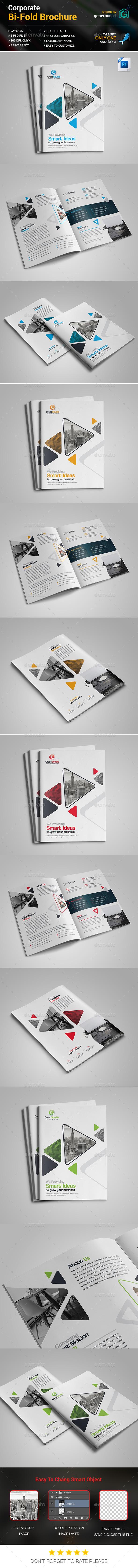 Business Bi-Fold Brochure - Corporate Brochures