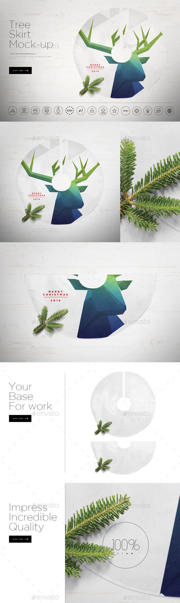 Tree Skirt Mock-up - Miscellaneous Product Mock-Ups