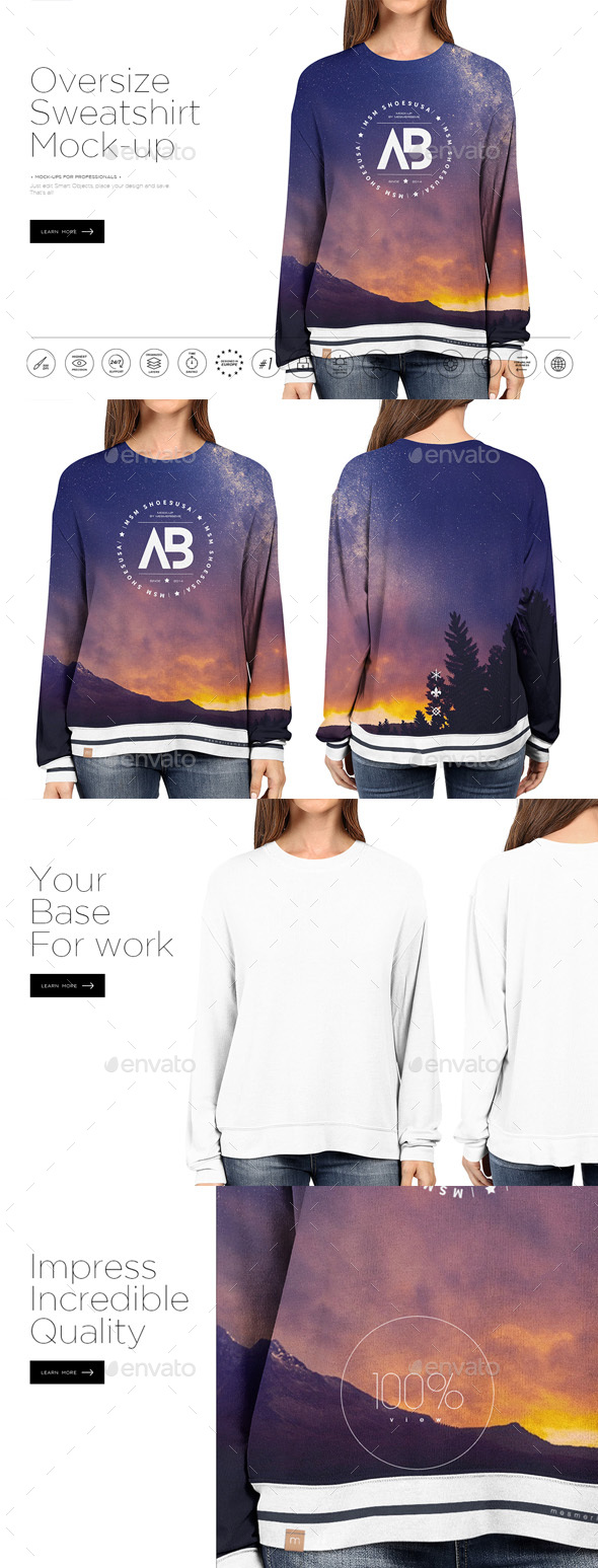 Oversize Sweatshirt Mock-up - Miscellaneous Apparel