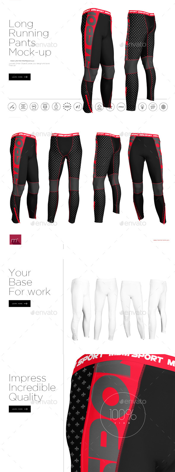 Long Running Pants Mock-up - Miscellaneous Apparel