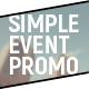 Simple Event Promo - VideoHive Item for Sale