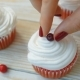 Cranberry Cupcakes with Whipped Cream - VideoHive Item for Sale