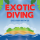 Exotic Diving Club Rollup Banner 78 - GraphicRiver Item for Sale