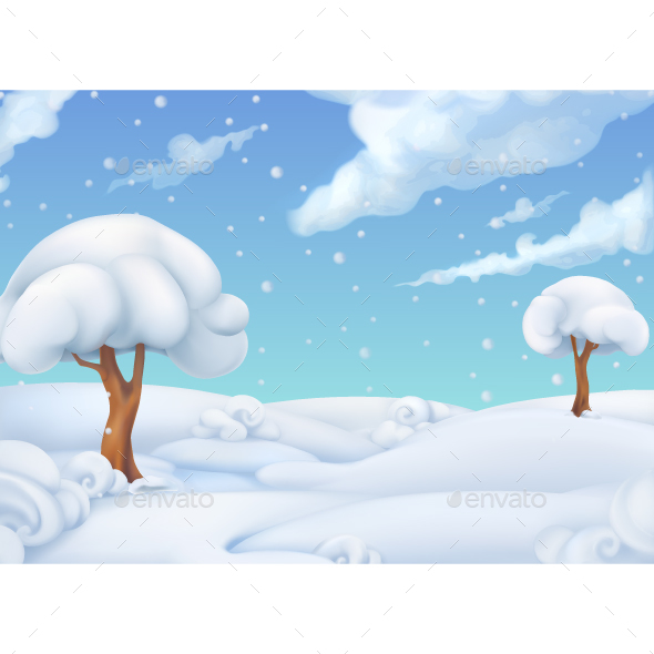 Christmas Background Winter Landscape - Landscapes Nature