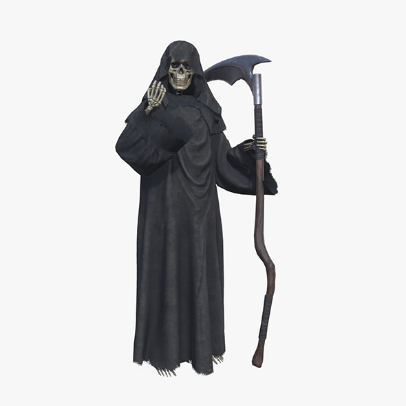 Grim Reaper Death Rigged - 3DOcean Item for Sale