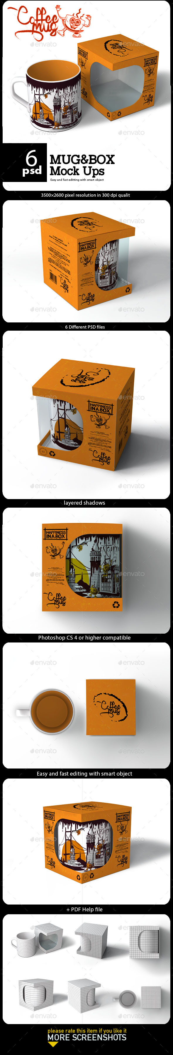 Mug & Box Mock-up - Miscellaneous Packaging