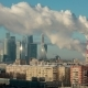 View of Moscow City With Smoke - VideoHive Item for Sale