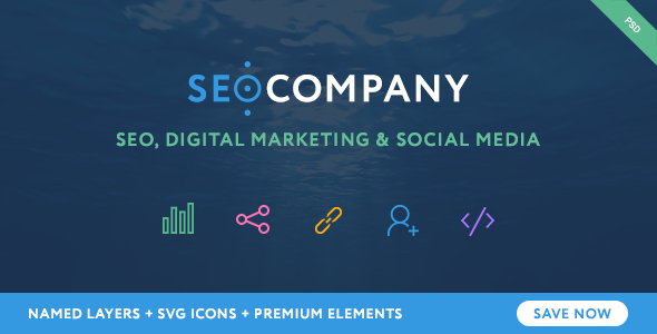 SEO - Seo Company - Seo & Digital Agency PSD Template - Marketing Corporate