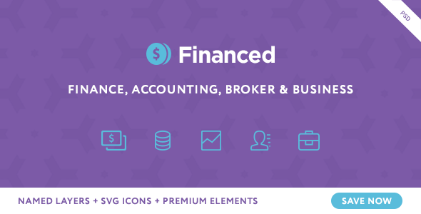 Financed - Finance PSD Template - Business Corporate