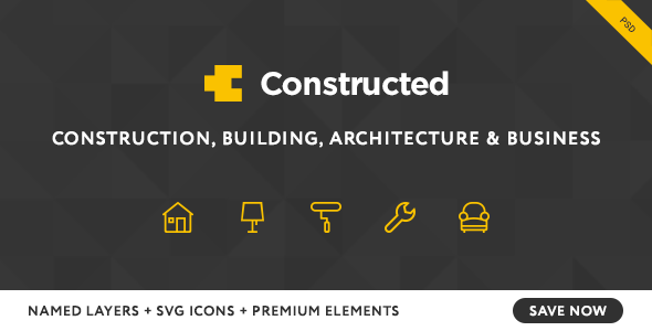 Constructed - Construction PSD Template - Business Corporate